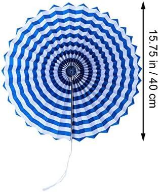 BESTONZON フィエスタペーパーファンカラフルな紙のファンの装飾ティッシュペーパーフラワーファンの紙ピンホイールファンは、誕生日ウェディングフェスティバルカーニバルのベビーシャワーパーティーデコレーション
