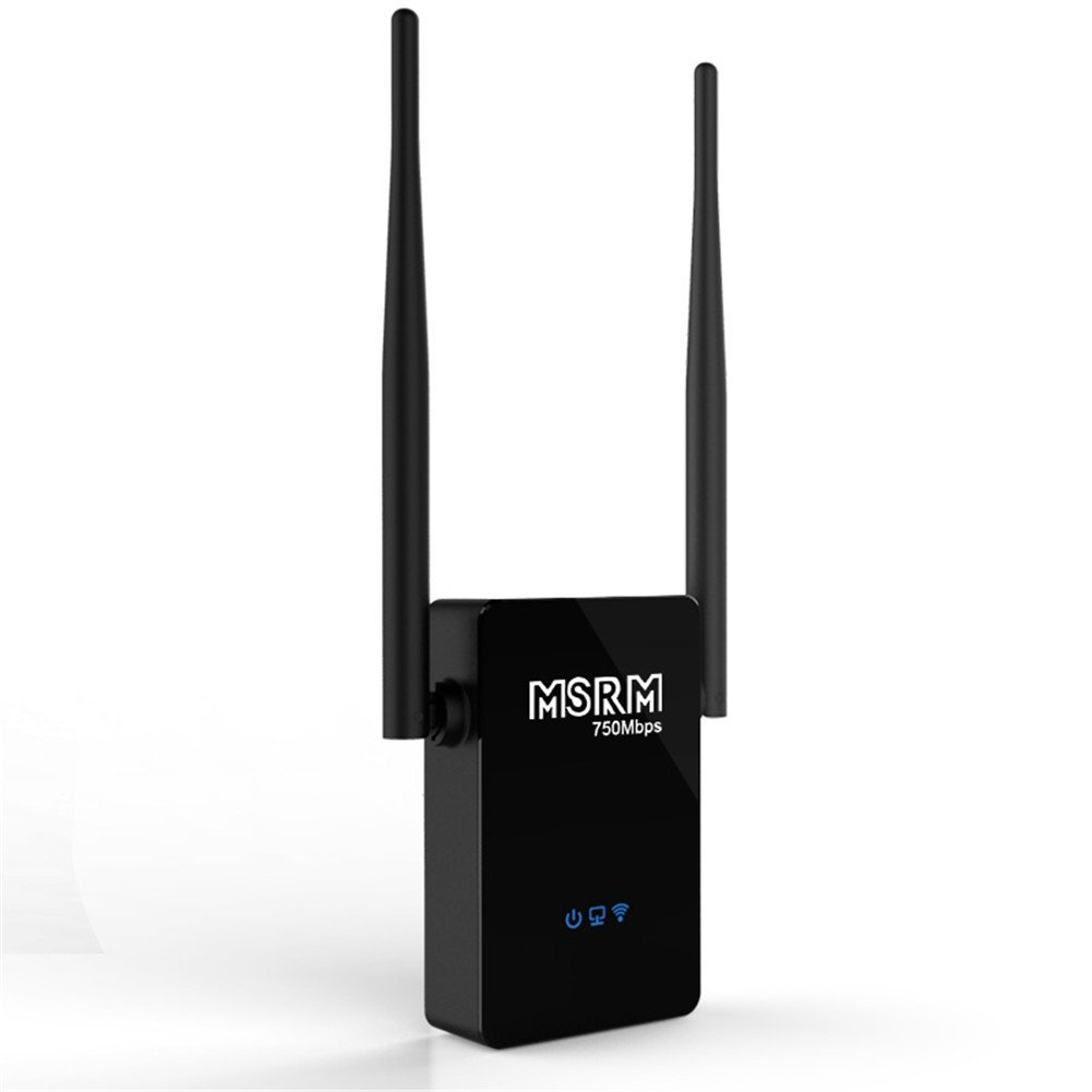 MSRM US750 750Mbps WiFi Range Extender 360 Degree Full Coverage External Antenna High Gain Dual Band Range Extender
