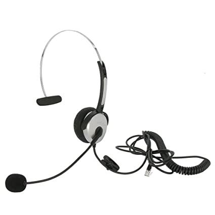 Amazon Com Mycablemart Headset With Microphone For Office Phones
