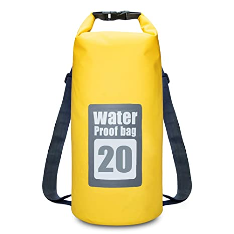 801651f50c68 EISHOW outdoor 20L Water Resistant Dry Bag Roll Top Traveling Rafting  Backpack for Hiking Camping Beach Kayaking Boating Canoeing Fishing Swimming  ...