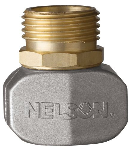 2 Pack Nelson Brass And Metal Male Hose Clamp Mender Repair Coupler For Garden Hoses 50520