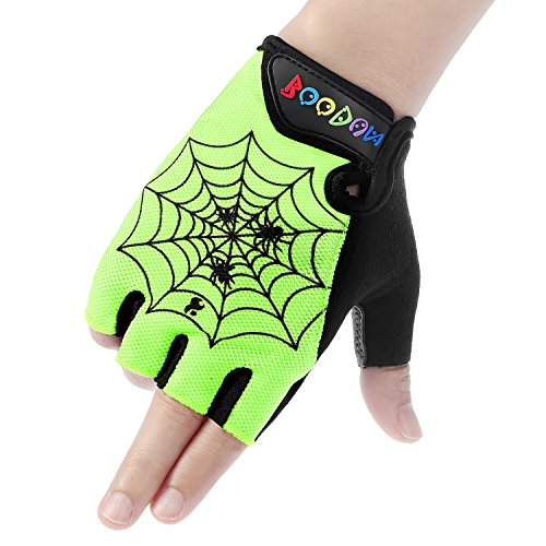Boodun Kids Biking Gloves, Children Cycling Gloves Antiskid Half-Finger Climbing Hiking Running Gloves for Boys Girls