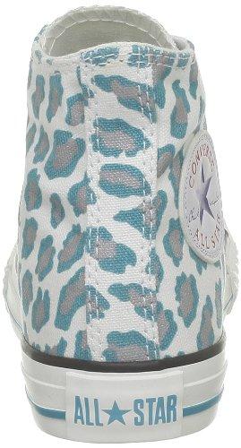 Converse Ctas Leopard Hi 291280-34-3 - Zapatillas de tela para niños Blanco (Weiß (Blanc/Bleu/Gris))