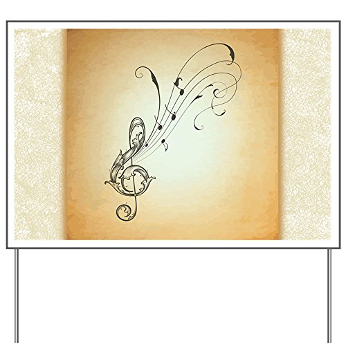 Yard Sign Musician Treble Clef Music Notes