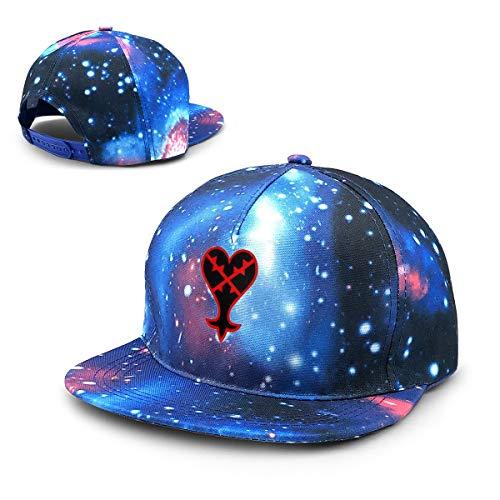 Heartless Logo Kingdom Hearts Adjustable Galaxy Cap Baseball Sun Hats for Mens Blue (Kingdom Hearts Hat)