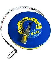 Cinta Métrica - Fléxometro 20M /66 FT de doble cara (mm y Pulgadas) en Fibra de Vidrio. Profesional