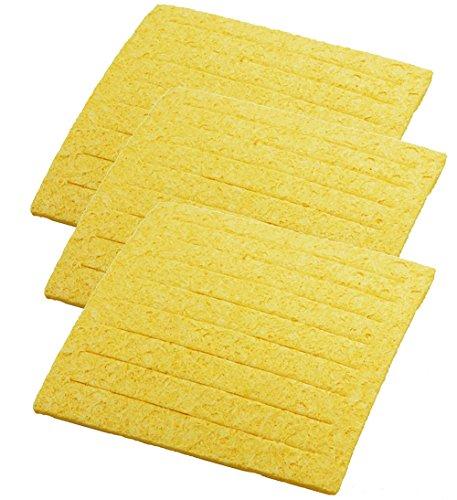 Weller TC205 ( PACK OF 3) Solder Tip Cleaning Sponge with Slits, 2-5/8
