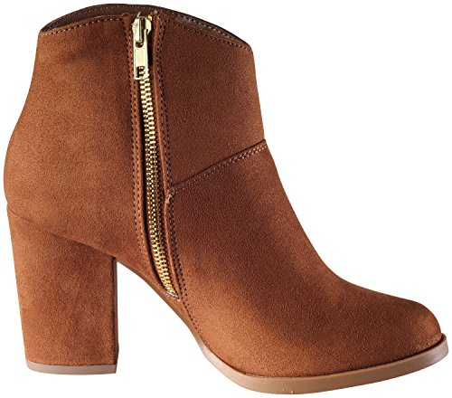 City Classified Womens Stacked Chunky Block Heel Western Ankle Bootie Mid Tan D9OPm