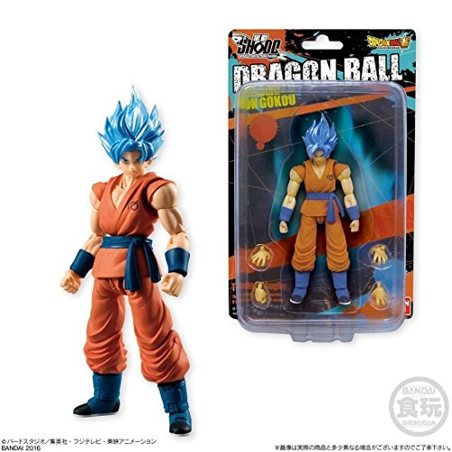 Bandai Shokugan Shodo Dragon Ball Z Super Saiyan God SS Son Goku Action Figure