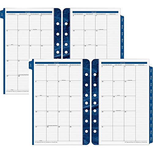 New Franklin Covey Classic Monticello Dated Two-Page-Per-Day Planner Refill, 5 1/2 x 8 1/2 (2019) ()