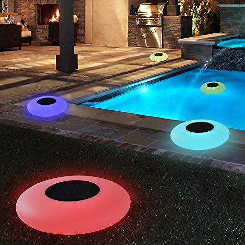 Blibly Swimming Pool Lights Solar Floating Light with Multi-Color LED Waterproof Outdoor Garden Lights -
