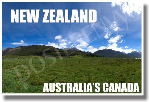 New Zealand - Australias Canada - NEW World Travel Poster