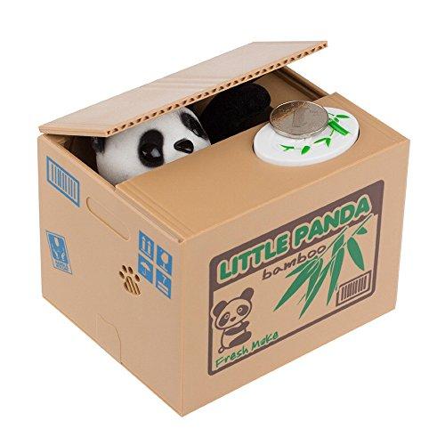 Mercimall Panda Piggy Bank Stealing Coin Money Box Baby Toy