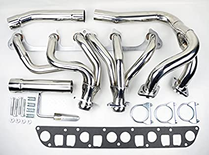 jeep wrangler cherokee 91 99 4 0l l6 stainless exhaust manifold header w y pipe XJ Cherokee Tail Pipe