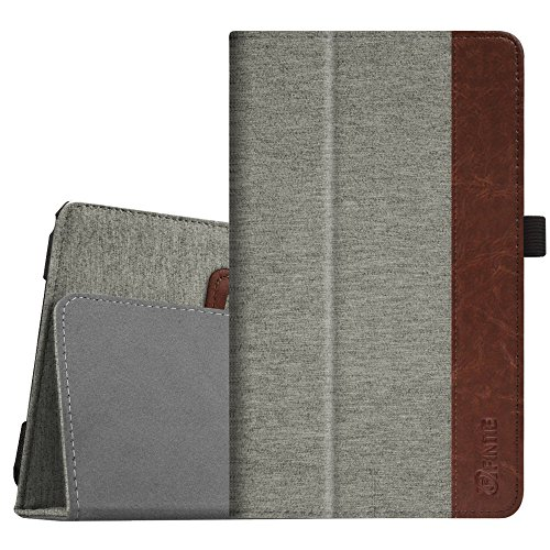 Fintie Folio Case for Samsung Galaxy Tab E 8.0 - Premium PU Leather Slim Fit Smart Stand Cover for Galaxy Tab E 32GB SM-T378/Tab E 8.0-Inch SM-T375/SM-T377 Tablet, Denim Grey