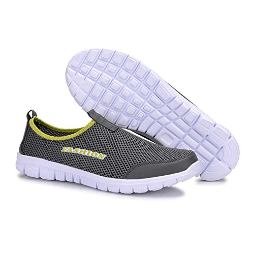 WELMEE Mens Breathable Comfortable Sneakers Lightweight Casual Slip On Loafers Walking Shoes