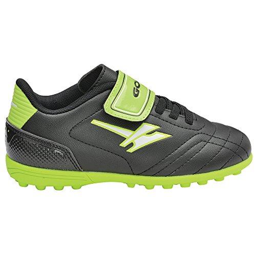 Gola Jungen Magnaz Velcro Vx Fußballschuhe Schwarz/Limette