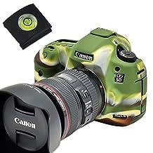First2savv XJPT-5D3GJ-06G15 green Rubber Camera Case Bag full cover for Canon EOS 5D Mark III . 5D Mk3 . 5DS . 5DSR .5DR + gradienter