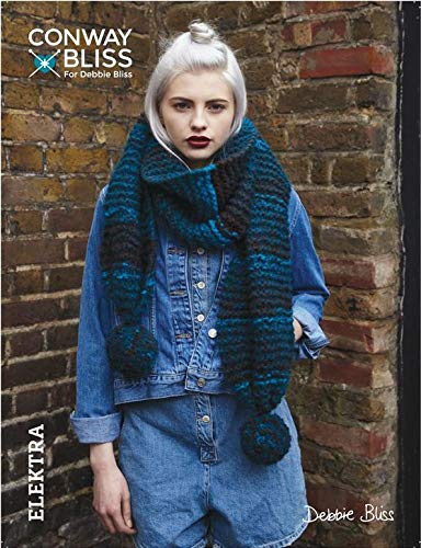 Conway + Bliss C&B Pompon Scarf Knitting Pattern, Motown
