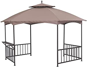 Garden Winds LCM1353B Madison Hexagon Gazebo Standard 350 Replacement Canopy, Beige
