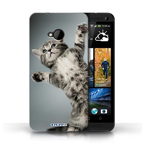 Etui / Coque pour HTC One/1 M7 / High five conception / Collection de Chatons mignons