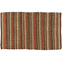 Park Designs 104-25E Cotton Chindi Stripe Rug, 24 x 38, Earth