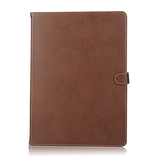 - iPad PRO #1 Most Popular Case in BROWN Matte Finish Split Leather with 12.9 inch screen and stand, keep your Apple iPad Secure with Magnetic Clasp that Keeps your Case Closed.
