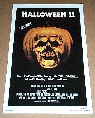 17 by 11 inch 17 x 11 Halloween II Universal Studio Horror Slasher Movie Poster Print: John Carpenter]()