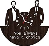 Wooden Wall Clock The Suits tv Show Series Unique Gifts for Fans Women Men him her Harvey Specter Mike Ross Poster Gabriel Macht Vinyl Lover DVD Season 1 2 3 4 5 6 7 Accessories Items Art t Shirt