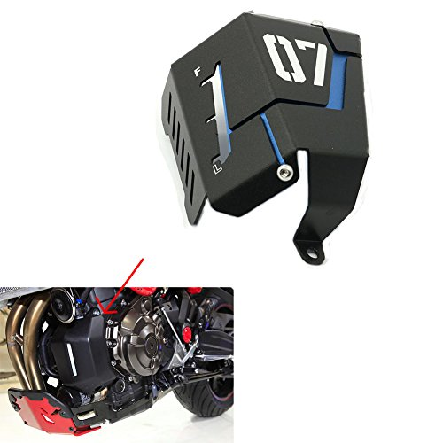 Alpha Rider Black Blue Radiator Side Cover Water Coolant Resevoir Tank Guard Cover Protector For YAMAHA MT-07 FZ-07 FZ-7 2013 - (Radiator Side Cover)