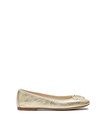 Poi Lei Damen Schuhe Klassische Ballerinas Bonita Gold Flach Leder
