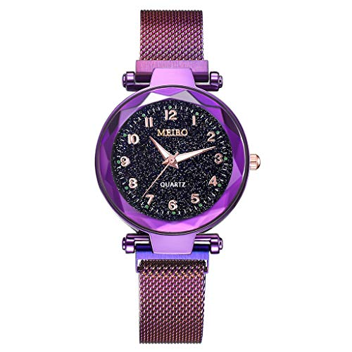 - Honestyivan Women's Fashion Quartz Analog Watches Starlight Dial Stainless Steel Strap Casual Simple Watch Gift for Mom