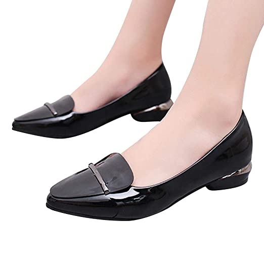 951b035a9b30 Amazon.com: GHrcvdhw Spring and Autumn Classics Low Heel Pointed-Toe ...