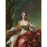 Canvas Prints Of Oil Painting ' Jean Marc Nattier-Madame De Maison-Rouge As Diana,1756' 8 x 11 inch / 20 x 27 cm , High Quality Polyster Canvas Is For Gifts And Basement, Foyer And Nursery Decoration