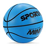 Stylife 5inch Mini Basketball for Kids, Environmental Protection Material,Soft and Bouncy,Colors Varied (Blue)