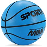 """Sport AI Small Basketball Mini Cute Bouncy Ball for Kids,Safe and Soft to Handheld 5"""" Green/Blue/Pink Basketballs"""