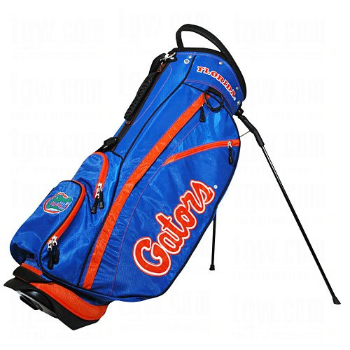 Golf Nylon Florida Gators - Team Golf NCAA Florida Gators Fairway Golf Stand Bag, Lightweight, 14-way Top, Spring Action Stand, Insulated Cooler Pocket, Padded Strap, Umbrella Holder & Removable Rain Hood