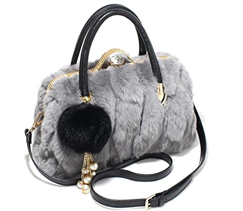 SHFANG Plüsch Handtasche / Leder Schultertasche / Mode Winter Umhängetasche, Einkaufen / Arbeit / Reisen, hohe Qualität, Schnalle Typ