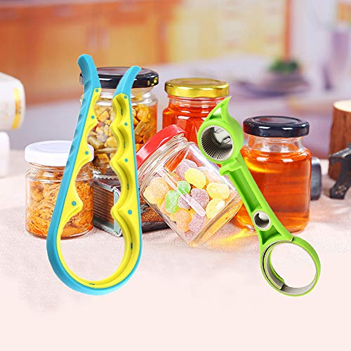 Jar Opener Bottle Opener, 6 in 1 and 4 in 1 Multifunctional Can Opener Set, Matching with Variety of Seals and Lids - For Arthritis Sufferers, Weak Hand, Elderly, Children