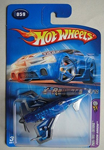 HOT WHEELS 2005 FIRST EDITIONS X-RAYCERS 9/10 BLUE POISON ARROW #59 ()