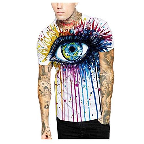 Elakaka Graffiti Eyes Digital Printing Men 's T - - Reviews Boohoo.com