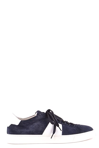 SANTONI Sneakers Uomo Mcbi267049o Camoscio Blu  Amazon.it  Scarpe e ... cf4a470dba5