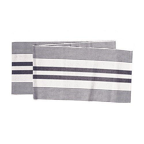 (C&F Home Classic Strips, Black and White Runner, 13x72)
