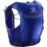 Salomon Advance Skin 12 Set Running Hydration Vest, Clematis Blue/Ebony, Large (Color: Clematis Blue/Ebony, Tamaño: Large)