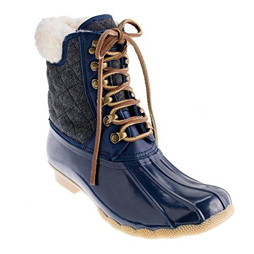 Sperry Top-Sider Women's Shearwater Rain Boot (8 B(M) US, Navy/Charcoal) by Sperry Top-Sider