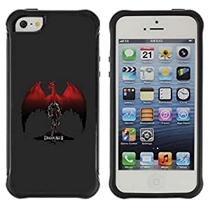 ZAAAZ Rugged Armor Slim Protection Case Cover Durable Shell - Red Dragon - Apple Iphone 5 / 5S