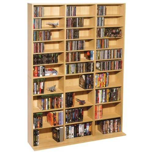 OSKAR CD CABINET MAPLE - Atlantic Maple Media Storage