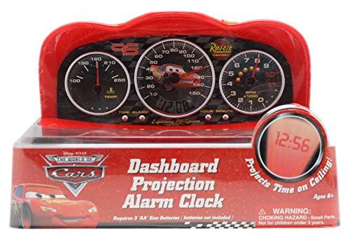 Disney Pixar's Cars Lightning McQueen Dashboard Projection Digital Alarm Clock