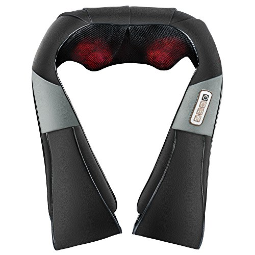 AMEISEYE Shiatsu Neck & Shoulder Massager: Electric Heated Kneading Massager for Shoulder Neck Foot & Back Pain Relief| Ergonomic U-Shape & Adjustable Intensity| Portable Massage Tool for Home & Car - Shiatsu Neck