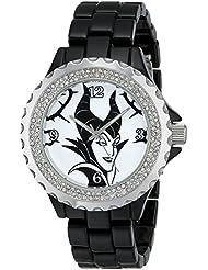 Disney Womens W001796 Maleficent Watch Analog Display, Analog Quartz, Black Watch
